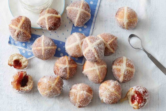 Jam Doughnuts Meets Hot Cross Buns.